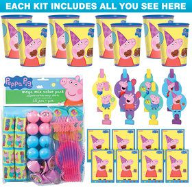 Peppa Pig Favor Kit (For 8 Guests)