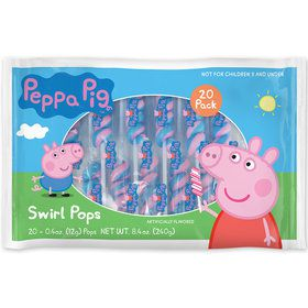 Peppa Pig Lollipop Swirls (20 Pack)