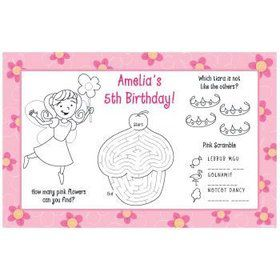 Perfectly Pink Personalized Activity Mats (8-pack)