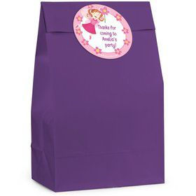 Perfectly Pink Personalized Favor Bag (Set Of 12)