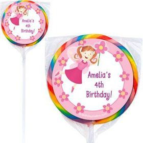 Perfectly Pink Personalized Lollipops (pack of 12)