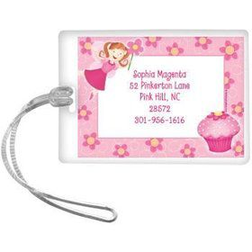 Perfectly Pink Personalized Luggage Tag (each)