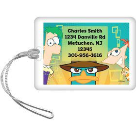 Phineas And Ferb Personalized Luggage Tag (Each)