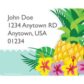Pineapple Personalized Address Labels (Sheet of 15)