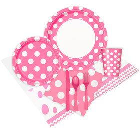 Pink and White Dots Party Pack