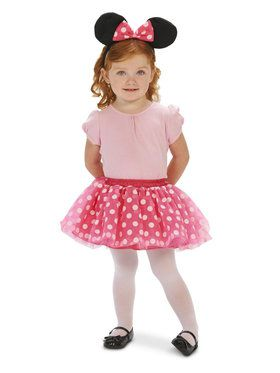 Pink and White Mouse Child Costume with Headband
