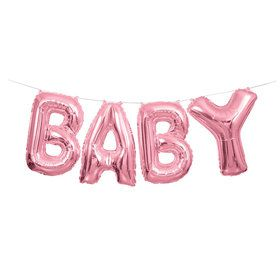 Pink Baby Balloon Letter Banner