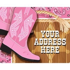 Pink Bandana Personalized Address Labels (Sheet of 15)