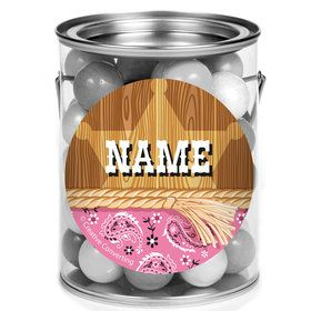 Pink Bandana Personalized Mini Paint Cans (12 Count)