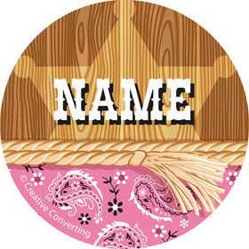 Pink Bandana Personalized Mini Stickers (Sheet of 24)