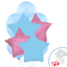 Pink & Blue Balloon Bouquet
