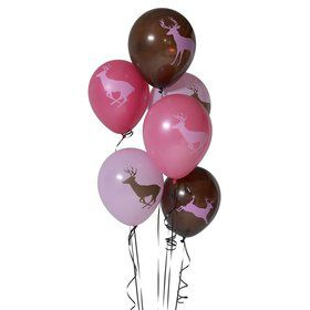 "Pink Camo 12"" Latex Balloons (6 Pack)"
