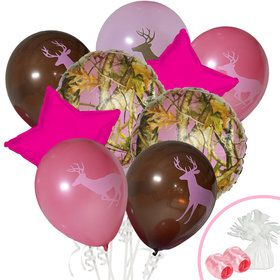 Pink Camo Balloon Bouquet