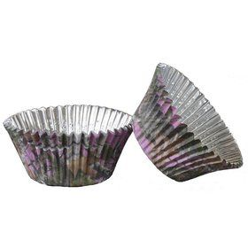 Pink Camo Foil Cupcake Cups (36 Pack)