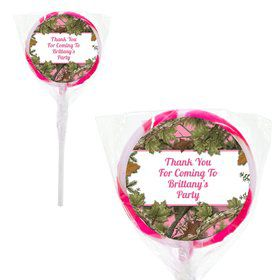 Pink Camo Personalized 2#34; Lollipops (20 Pack)