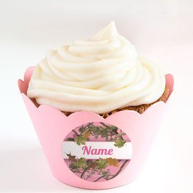 Pink Camo Personalized Cupcake Wrappers (Set of 24)