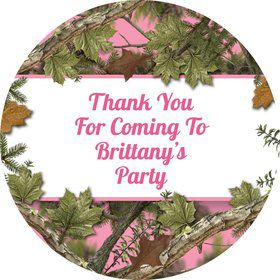Pink Camo Personalized Stickers (Sheet of 12)