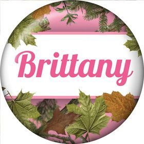 Pink Cover Personalized Mini Button (Each)