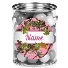 Pink Cover Personalized Mini Paint Cans (12 Count)