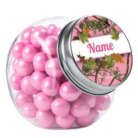 Pink Cover Personalized Plain Glass Jars (10 Count)