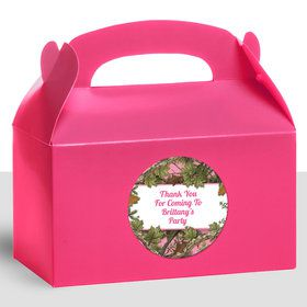 Pink Cover Personalized Treat Favor Boxes (12 Count)