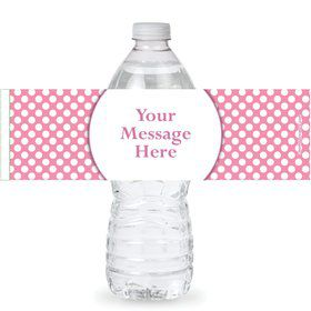 Pink Dots Personalized Bottle Labels (Sheet of 4)