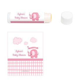 Pink Elephant Personalized Lip Balm (12 Pack)
