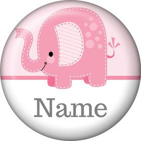 Pink Elephant Personalized Mini Magnet (Each)
