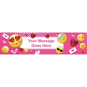 Pink Emoji Personalized Banner (Each)