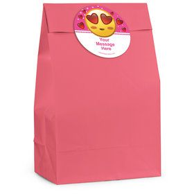 Pink Emoji Personalized Favor Bag (12 Pack)