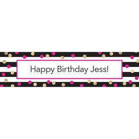 Pink & Gold Personalized Banner (Each)