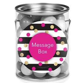 Pink & Gold Personalized Mini Paint Cans (12 Count)