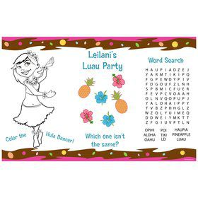 Pink Luau Fun Personalized Activity Mat (8 Pack)