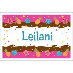 Pink Luau Fun Personalized Placemat (Each)