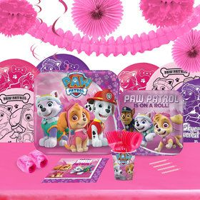 Pink Paw Patrol 16 Guest Tableware Deco Kit