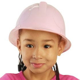 Pink Plastic Construction Hat (12 Count)