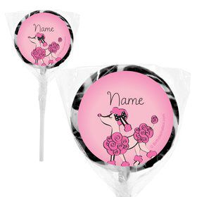 "Pink Poodle Personalized 2"" Lollipops (20 Pack)"