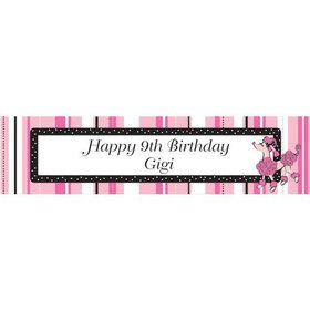 Pink Poodle Personalized Banner (each)