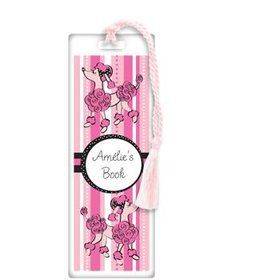 Pink Poodle Personalized Bookmark (each)