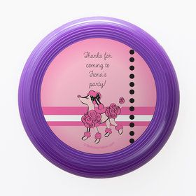 Pink Poodle Personalized Mini Discs (Set of 12)
