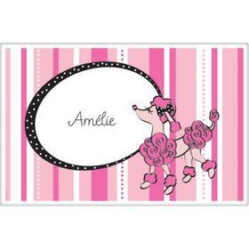 Pink Poodle Personalized Placemat (each)