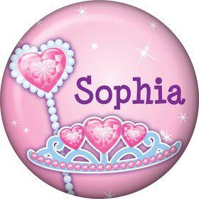 Pink Princess Party Personalized Mini Magnet (each)