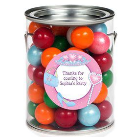 Pink Princess Party Personalized Paint Can Favor Container (6 Pack)