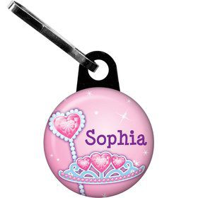 Pink Princess Party Personalized Zipper Pull (each)