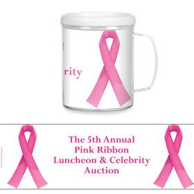 Pink Ribbon Personalized Favor Mug (Each)