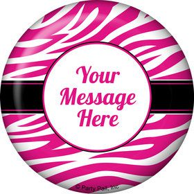 Pink Zebra Stripes Personalized Magnet (Each)