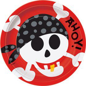 Pirate Birthday Dinner Plates (8-Pack)
