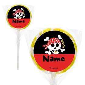 "Pirate Birthday Personalized 2"" Lollipops (20 Pack)"