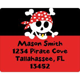 Pirate Birthday Personalized Address Label
