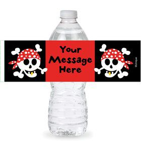 Pirate Birthday Personalized Bottle Labels (Sheet of 4)